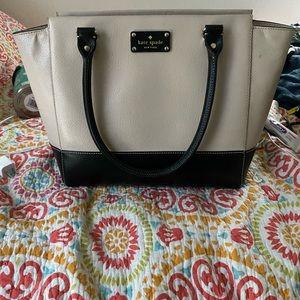 Kate Spade black and off white handbag